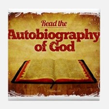 Autobiography of God Tile Coaster