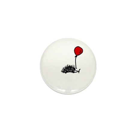 Hedgehog with balloon Mini Button