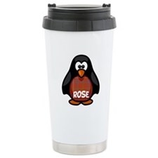 Rose Tartan Penguin Travel Mug