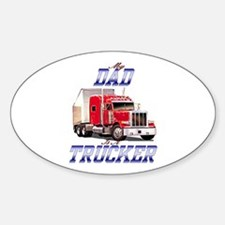trucker kids Oval Decal