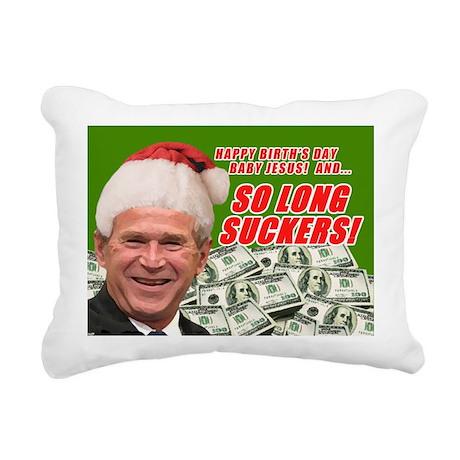 Merry Xmas Suckers Bush Rectangular Canvas Pillow