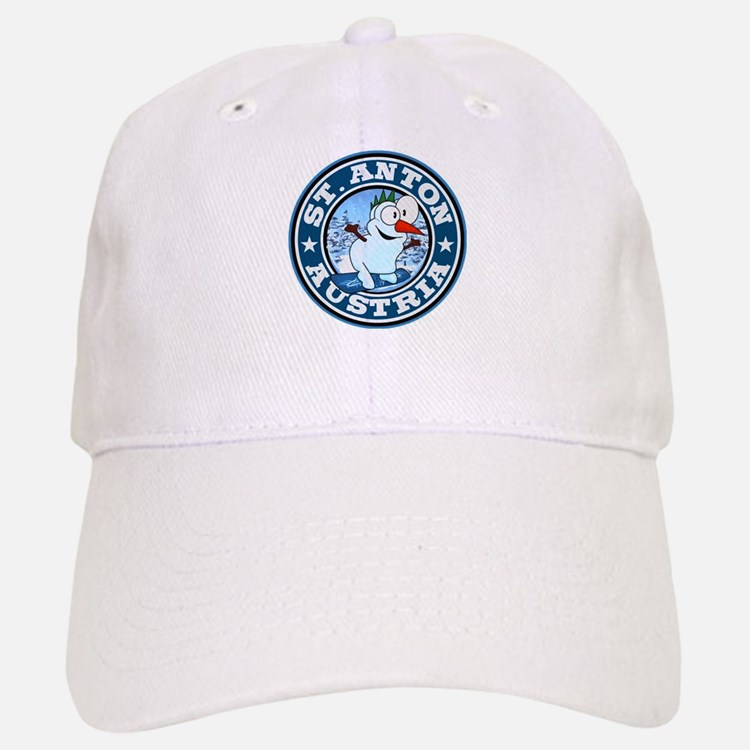 St. Anton Snowman Circle Baseball Baseball Cap