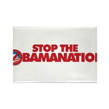 Stop the Obamanation Rectangle Magnet
