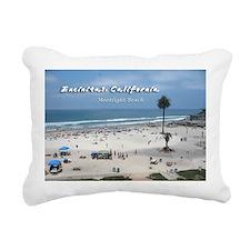 Moonlight Beach on Summer Day Rectangular Canvas P