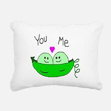 Funny Peas Rectangular Canvas Pillow