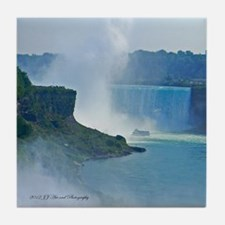 Horseshoe Falls and Boat Tile Coaster