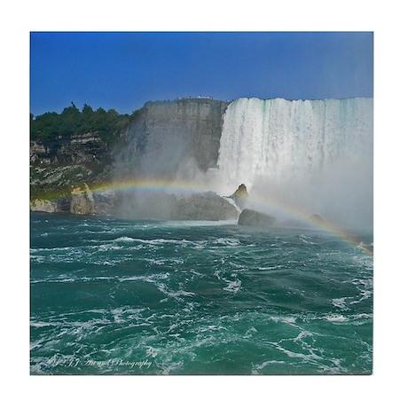 American Falls And Rainbow Tile Coaster
