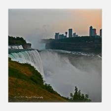 Niagara Falls and Canada Sunset Tile Coaster