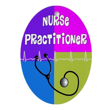 nurse practitioner case 2.PNG Ornament (Oval)