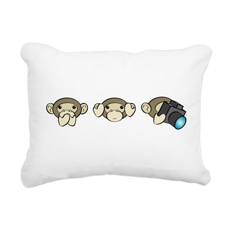 Chimp No Evil Rectangular Canvas Pillow