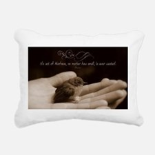 Inspirational Quote on Rectangular Canvas Pillow