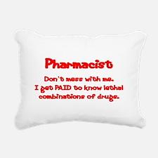 Don't Mess With Me Rectangular Canvas Pillow