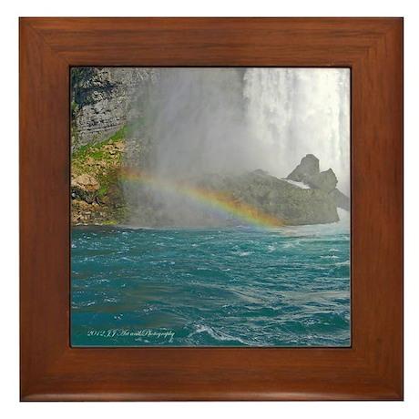 Bridal Falls Rainbow Framed Tile