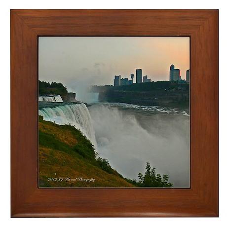 Niagara Falls and Canada Sunset Framed Tile