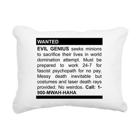 Evil Genius Personal Ad Rectangular Canvas Pillow