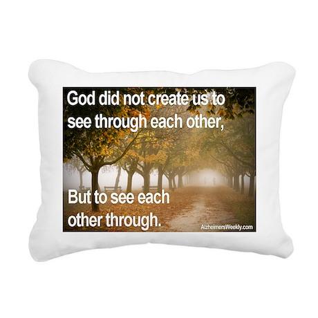 """See each other through"" Rectangular Canvas Pillow"