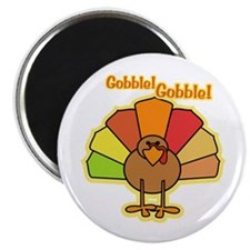Thanksgiving Turkey Cartoon Gobble Magnet