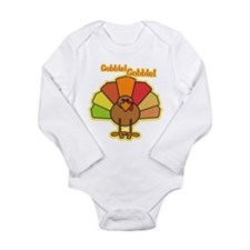 Thanksgiving Turkey Cartoon Gobble Long Sleeve Inf
