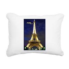 Night Eiffel Rectangular Canvas Pillow