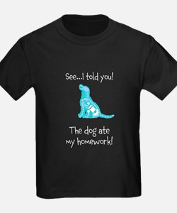 Kids Dog ate my homework! Dark T-Shirt