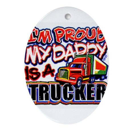 family truckers Oval Ornament