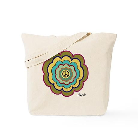 Opechee Peace Flower Tote Bag