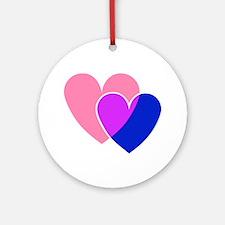 bi hearts Ornament (Round)