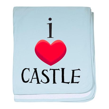 i love CASTLE.png baby blanket