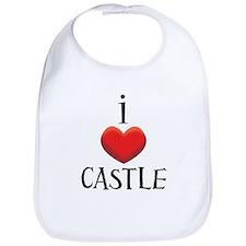 i love CASTLE.png Bib