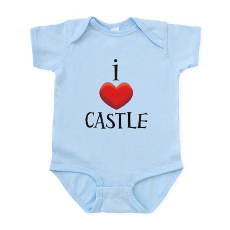 i love CASTLE.png Infant Bodysuit