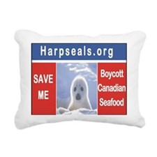 Red White Blue Save Me! Rectangular Canvas Pillow