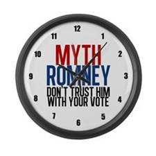 Myth Romney Large Wall Clock