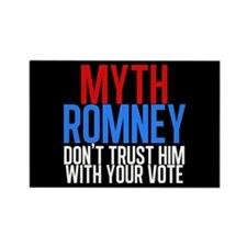 Myth Romney Rectangle Magnet