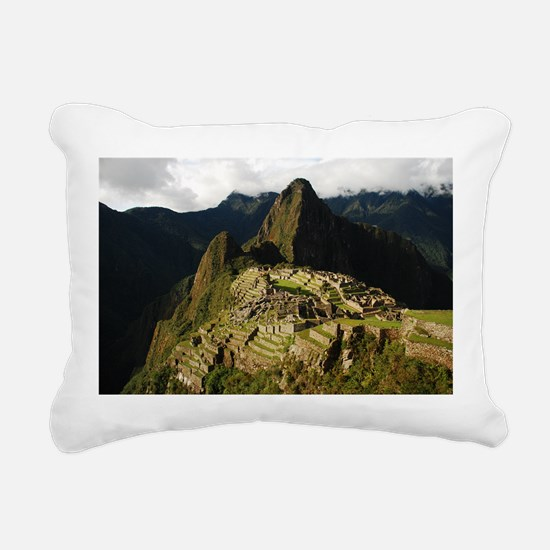 Machu Picchu Rectangular Canvas Pillow
