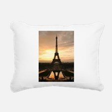 Eiffel Tower Sunset Paris Rectangular Canvas Pillo