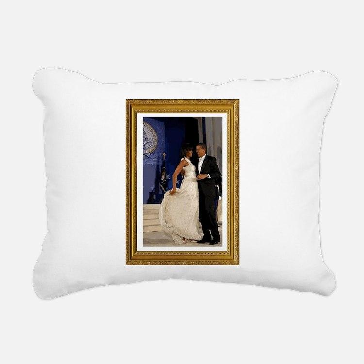 Cute Presidential inauguration 2009 Rectangular Canvas Pillow