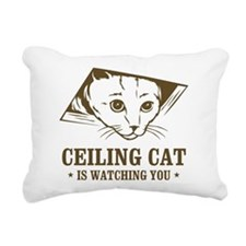 ceiling cat is watching you Rectangular Canvas Pil