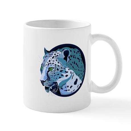 Indigo Leopard Mug