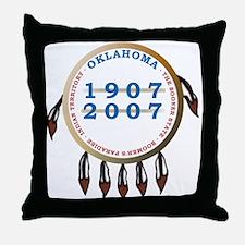 Oklahoma Centennial Shield Throw Pillow