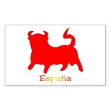 Red Spanish Bull Decal