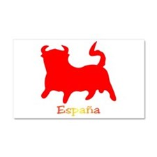 Red Spanish Bull Car Magnet 20 x 12