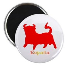 Red Spanish Bull Magnet
