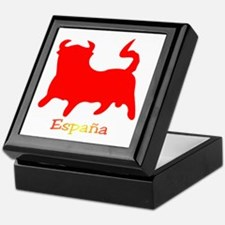 Red Spanish Bull Keepsake Box
