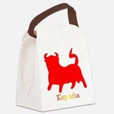 Red Spanish Bull Canvas Lunch Bag