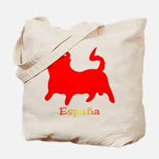 Red Spanish Bull Tote Bag