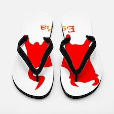 Red Spanish Bull Flip Flops