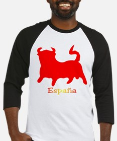 Red Spanish Bull Baseball Jersey
