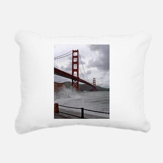 foggy golden gate Rectangular Canvas Pillow