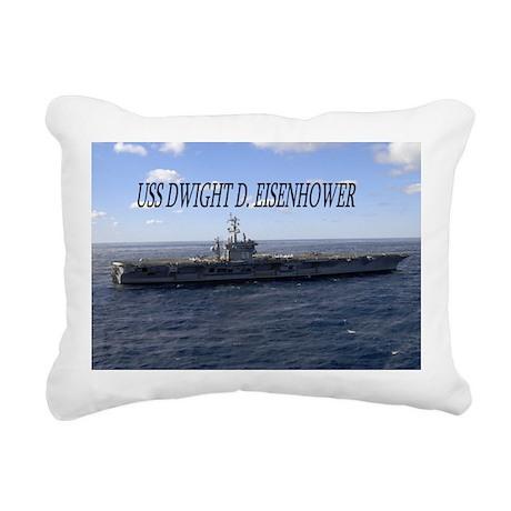 USS Dwight D Eisenhower Rectangular Canvas Pillow