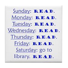 weekly schedule Tile Coaster